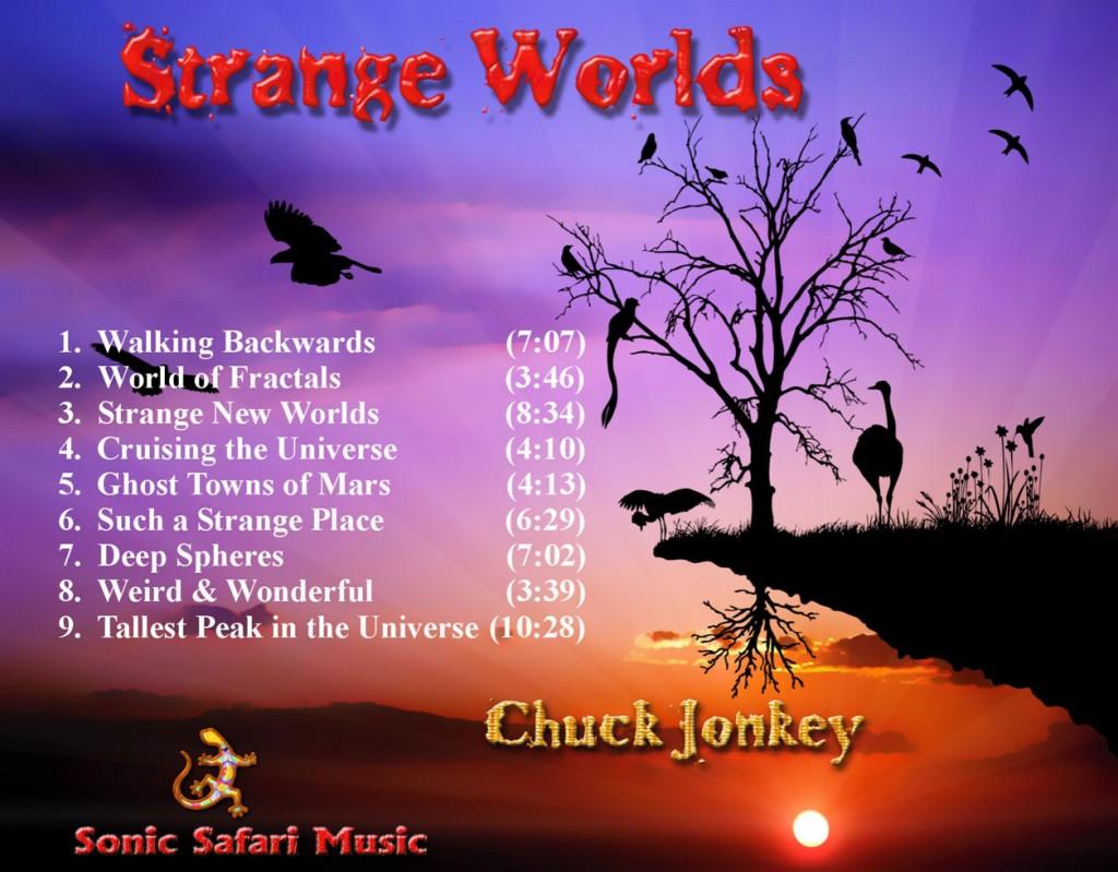 """Strange Worlds Cd back"""