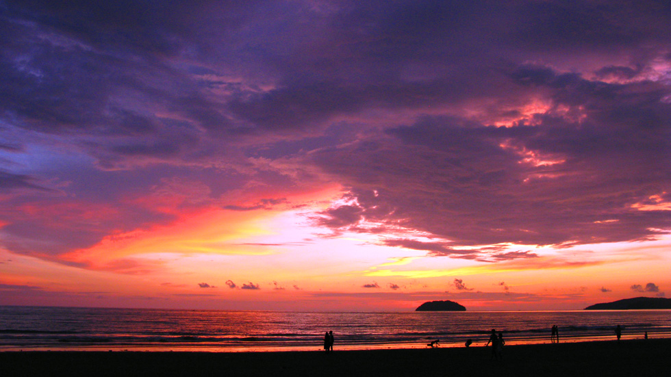 Sunset on the shores of Borneo