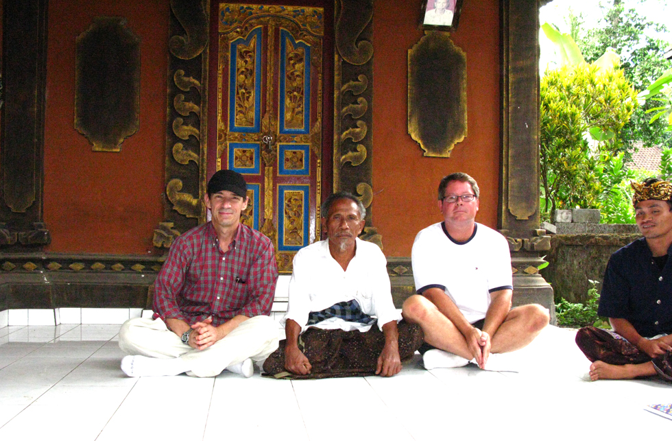 Chuck Jonkey, Allan Smith and Guru Ketut