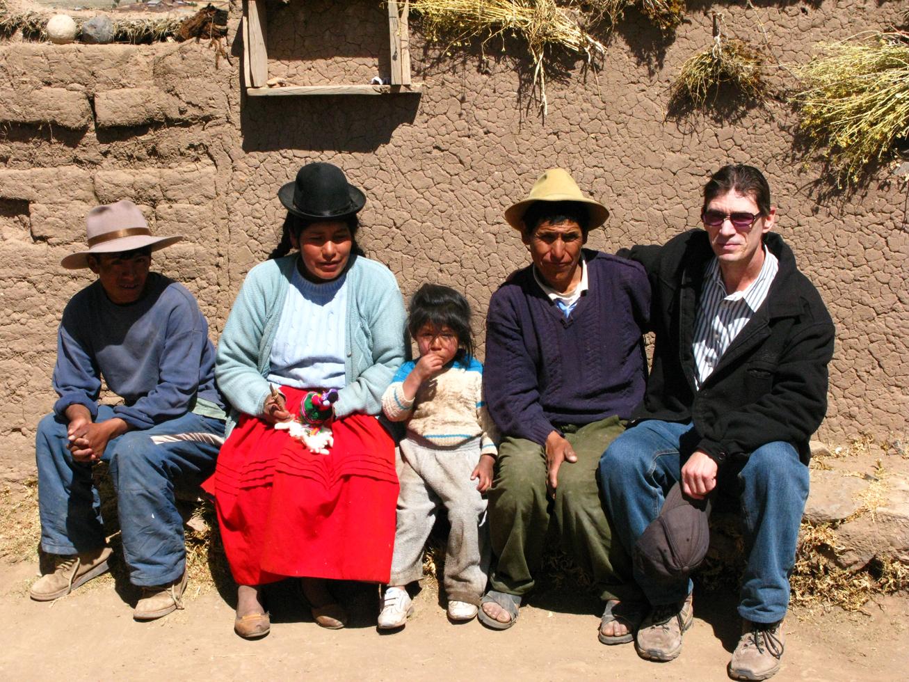 Chuck with Aymara family