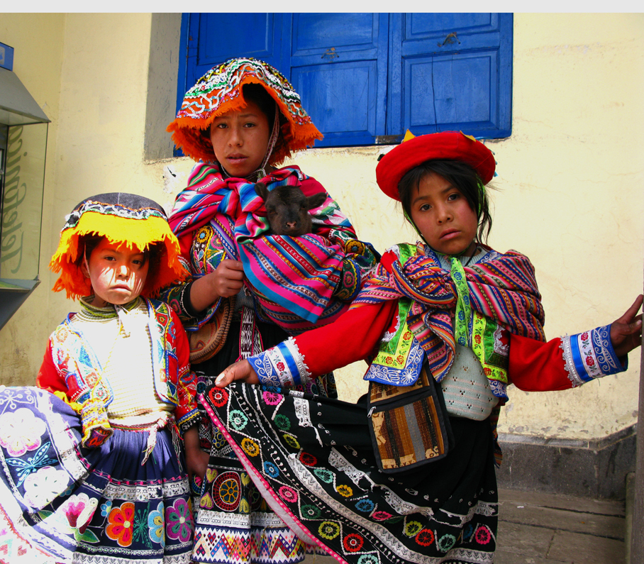 Peruvian Children from the altiplano region