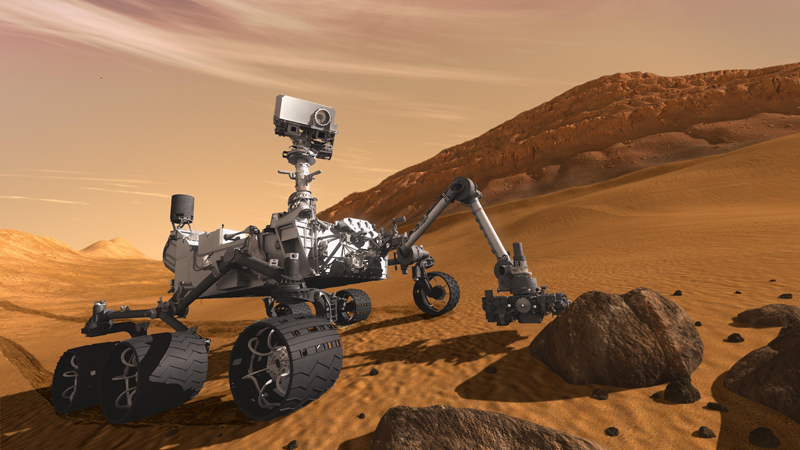 Mars rover Curiosity on Mars