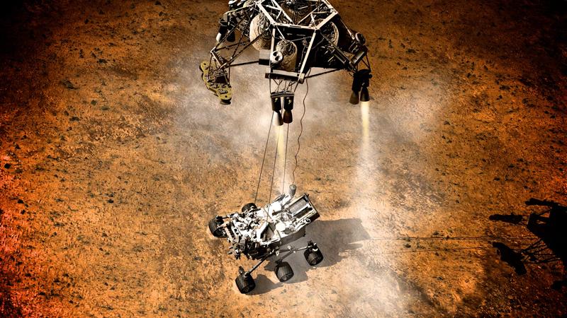 Curiosity landing on Mars