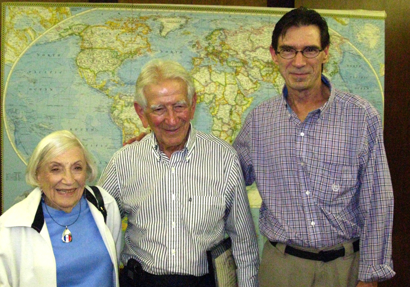 Chuck Jonkey with Marthe Cohn and Morris Price