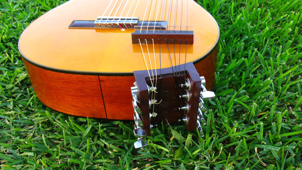 Nylon String harp guitar  tuning assembly