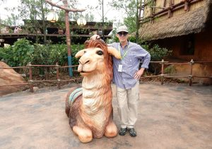 Chuck Jonkey with Adventure Isle Llama